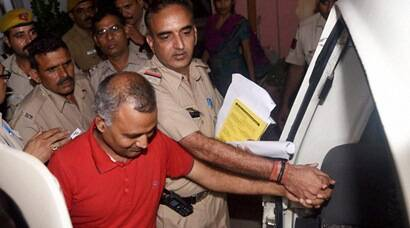 Somnath Bharti, Somnath Bharti Arrested, Somnath Bharti Surrender, AAP MLA Somnath Bharti, AAP MLA Somnath bharti Arrested, Somnath Bharti Domestic Violence, Somnath Bharti Attempt to murder, Somnath Bharti Alleged, Somnath Bharti Accused, Somnath Bharti police Custody, Somnath Bharti custody, Somnath Bharti News