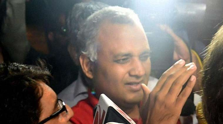 Somnath Bharti, Somnath Bharti AIIMS, Somnath Bharti arrested, Somnath Bharti delhi police, AAP, AAP MLA arrested, india news