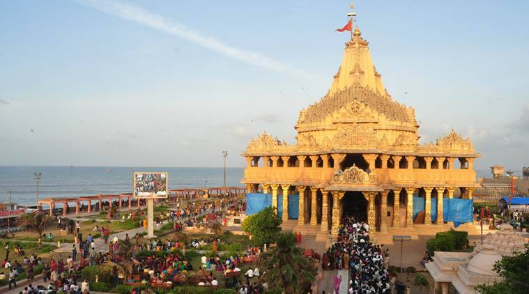 Somnath temple, somnath mandir, somnath temple function, sanskrit language, Shree Somnath Trust, PM Narendra Modi, indian express news