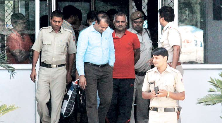 Somnath Bharti at the Dwarka court. (Source: Express Archive)