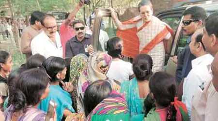 Villagers tell Sonia Gandhi about power, water problems; she directs them towardsCentre