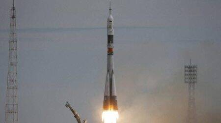 Soyuz rocket with Denmark's first astronaut, lifts off to space station