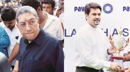 n srinivasan, anurag thakur, bcci, anurag thakur case, n srinivasan case, cricket news, sports news, cricket