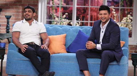 Cricketer Suresh Raina, wrestler Sushil Kumar on 'Comedy Nights With Kapil'