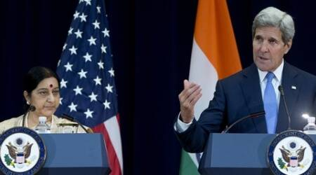 US india meet, india us meeting, sushma visit to US, sushma meets john kerry, talk on 26 11 attacks, talk on 26 11 mumbai attack, india us relations, indo us dialogue, indo us dialogue on terrorism, world news, latest news