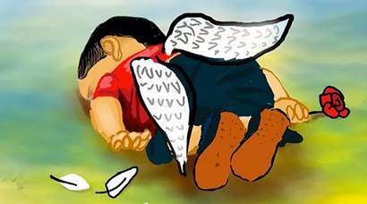 Global artists pay homage to Syrian child Aylan Kurdi who drowned off Turkey coast
