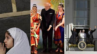 Eid al Adha, Narendra Modi, Barack Obama, Michelle Obama, Pope Francis, Eid Mubarak, Mecca, Haj, Haj Pilgrims, Mecca Madina, Modi in Us, modi visits us, Modi Tours silicon Valley, Pope francis in Philadelphia, Assam Floods, Heavy Rains in Assam, Migrant crisis, european Migrants, germany Migrants, Greece Migrants, Top Frames, Stock Market, Shanghai Stock Exchange, Indian Express