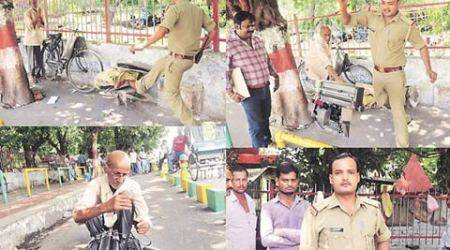 up typewriter, up typist, up typewriter, up cop typewriter, cop crushes typewriter, up news, lucknow news, india news,