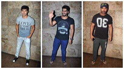 Arjun Kapoor, Varun Dhawan watch John Abraham's 'Welcome Back'