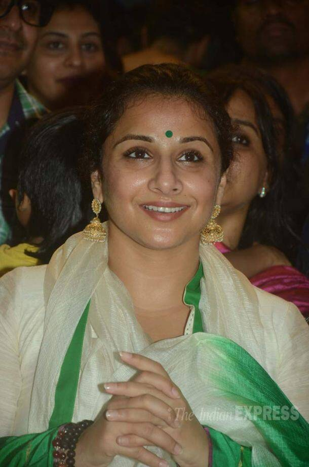 the Ganpati Mandal was actress Vidya Balan who also paid a visit to offer her prayers during the festive season.