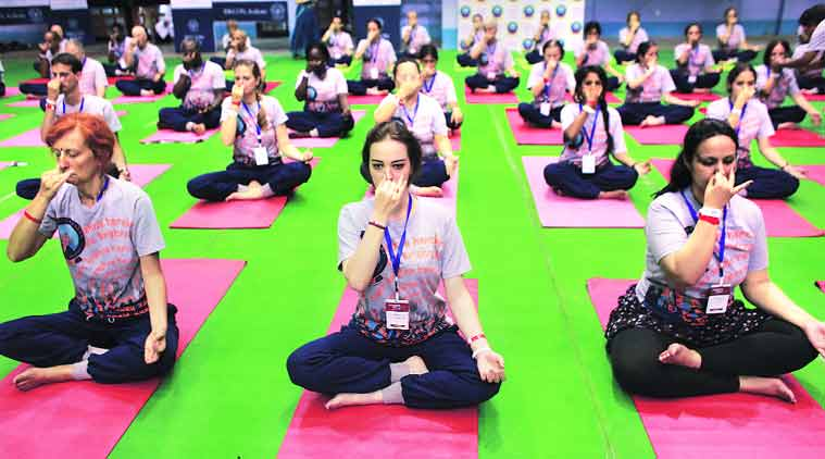 Yoga Federation, India, national championships, Yoga Federation of India, national championships, sports ministry, Narendra Modi, Narendra Modi government, Department of Personnel and Training, Department of Ayurveda, Yoga & Naturopathy, Unani, Siddha, Homoeopathy, Indian express, sports news