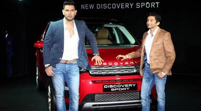 Yuvraj, Karthikeyan launch Land Rover's latest car