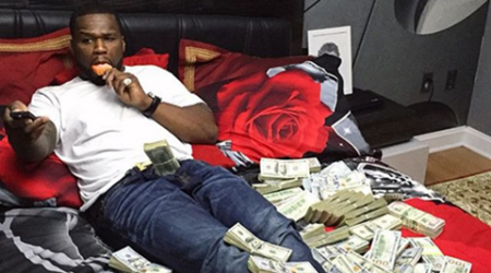 50 Cent shows his cash online in response to bankruptcyjibes