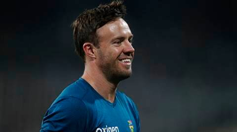 South Africa's AB de Villiers smiles as he walks out of the field in Kolkata, India, Thursday, Oct. 8, 2015. The third Twenty20 cricket match between India and South Africa has been delayed due to rain. (AP Photo/Bikas Das)