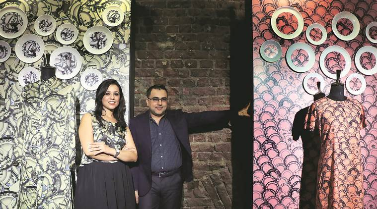 fashion, Pankaj and Nidhi, designer Pankaj and Nidhi, Koovs, fashion, online fashion, fashion week, indian express
