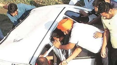 Kalka MLA's relative killed, son injured as car hitsbridge