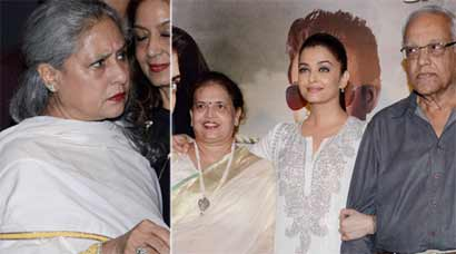 Aishwarya Rai shows 'Jazbaa' to mother-in-law Jaya Bachchan and parents
