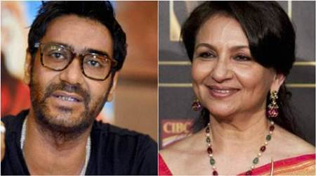 Ajay Devgn, Sharmila Tagore, Ajay Devgn news, Sharmila Tagore news, Ajay Devgn photos, Sharmila Tagore photos, Ajay Devgn CII Big Picture Summit, Sharmila Tagore CII Big Picture Summit, CII Big Picture Summit