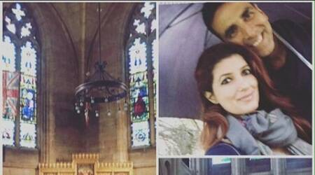 Akshay Kumar enjoys a day off with wife Twinkle Khanna in Norwich, shares pic on Twitter