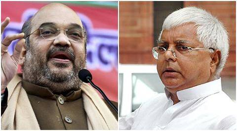 Lalu Yadav, Amit Shah booked for 'Narbhakshi', 'Chara chor' comments