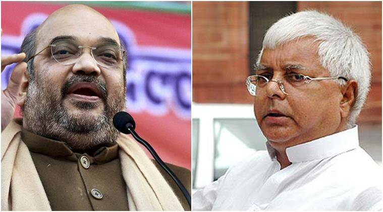 lalu yadav, amit shah, bihar, bihar polls, fir against lalu, lalu booked, amit shah booked, bihar polls, bihar elections, latest news