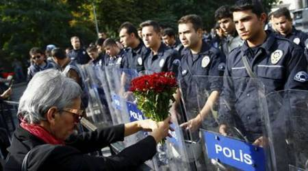 ankara, turkey, turkey twin blast, ankara blast, ankara rally blast, turkey rally blast, Turkey blast protest, Turkish police, pro-Kurdish rally blast, turkey news, world news, latest news