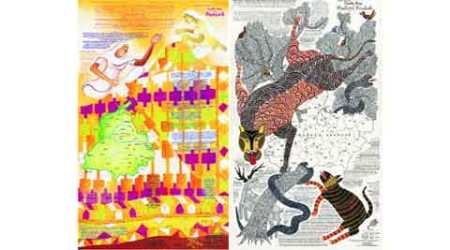 indian craft, exhibition, Jaya jaitly, Dastkari Haat Samiti, Race Course, Gond Art, Gond Art Race Course, Crafts Map of Madhya Pradesh, Talk