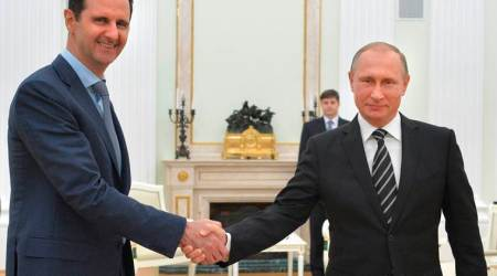 Syrian President Assad travels to Moscow to meet Vladimir Putin