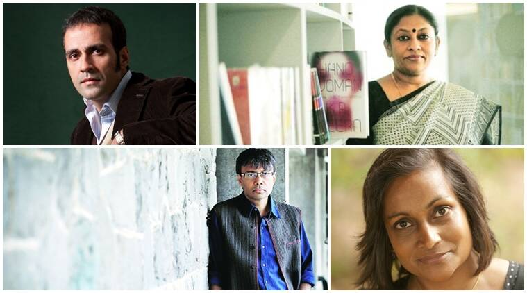 From Top left: Aatish Taseer, KR Meera; Bottom left: Amit Chaudhuri, Minoli Salgado