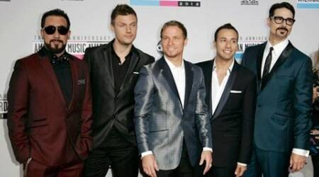 Backstreet Boys make surprise appearance at fashion show