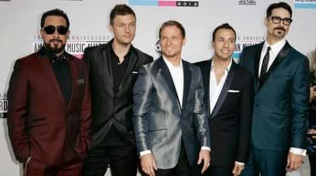 Backstreet Boys make surprise appearance at fashionshow
