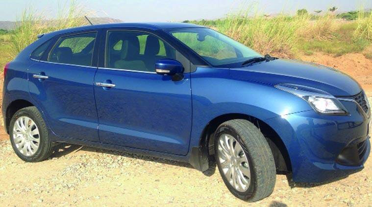 The Baleno will hit Indian roads on October 26. Express Photo