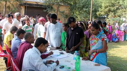 bihar elections, Bihar Polls, Bihar polls Phase 2, bihar elections 2015, bihar election 2015, bihar polls photos, Bihar Election Phase 2, Kaimur Election Photos, Rohtas Election Photos, Arwal Election Photos, Jehanabad Election Photos, Aurangabad Election Photos, Gaya Election Photos