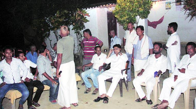 Faraz Fatmi, RJD candidate, interacts with Keoti's Brahmin voters, many of whom are upset with the BJP because it has fielded a Yadav. Muzamil Jaleel