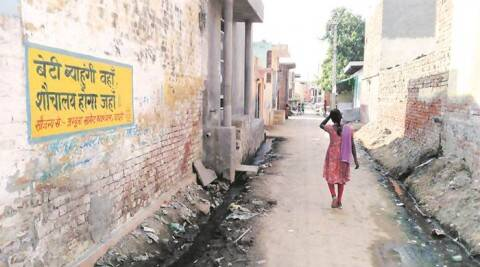 Dadri : The Bishada village where Mohammad Ikhlaq was lynched by a mob after rumours of beef eating, remains peaceful in Dadri on Tuesday. PTI Photo by Atul Yadav   (PTI10_6_2015_000262A)