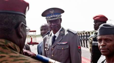 Burkina Faso coup leader General Gilbert Diendere hands himself in after brief reign