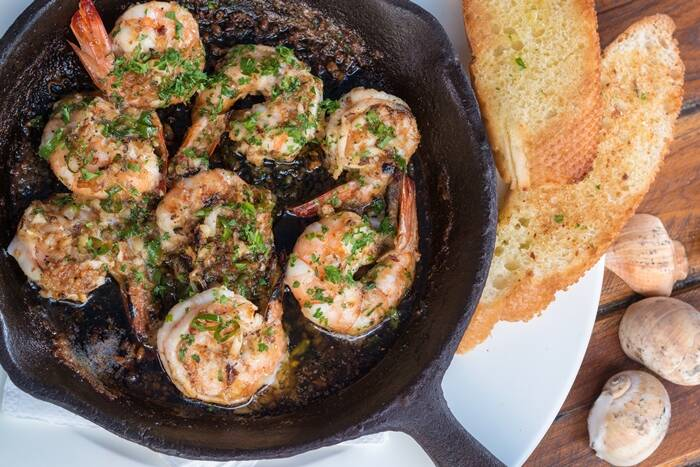 Butter Garlic Chili Prawns