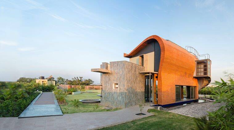 Contemporary architects warm up to brick using it to give for Indian home architectures
