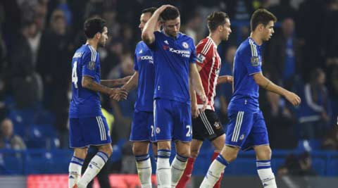 Chelsea's title defence off track after fourth loss in eight games