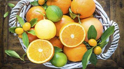mix of fresh citrus fruits