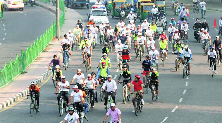 bicycle, india, bicycle culture, cycle culture, pollution, enviornment, decongestion of roads, bogota, colombia-cycling culture, ciclovia, bogota-ciclovia, indian express