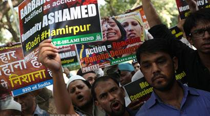 Protest in Delhi over Dadri lynching