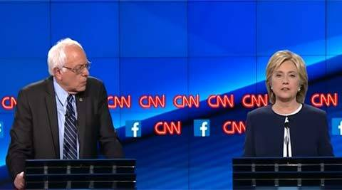 Democratic debate: Hillary Clinton, Bernie Sanders spar over capitalism, gun control in US