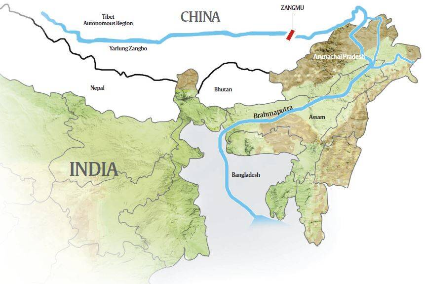 Image result for China dam sharing arunachal pradesh