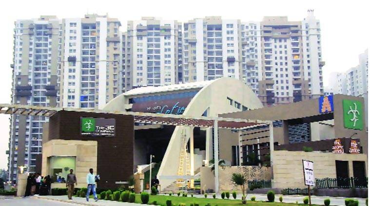 The student, Rama, lived in a rented apartment at Lotus Boulevard society in Noida Sector 100. (Gajendra Yadav)