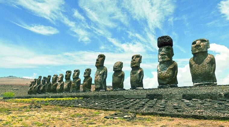 Easter Island's nearest populated neighbourhood is Pitcairn Island, 2,075 km away. The closest continental point on South America's west coast is 3,512 km away