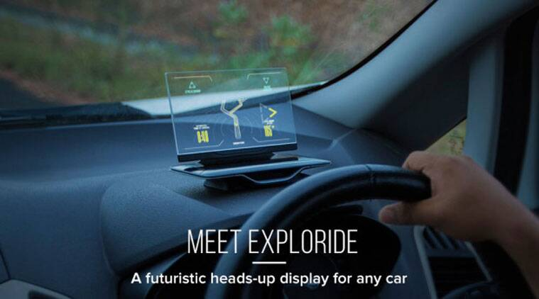 Exploride, Exploride heads-up display, Exploride hands free display, GPS, LTE, Google Maps supported, Exploride transparent display, indiegogo, startup, tech news, technology