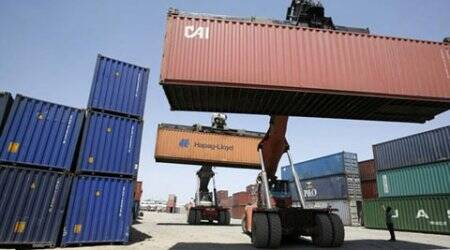 Exports dip 13.6%; deficit narrows on low imports