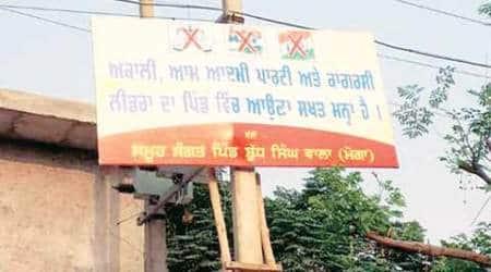 Moga village bans entry ofpoliticians
