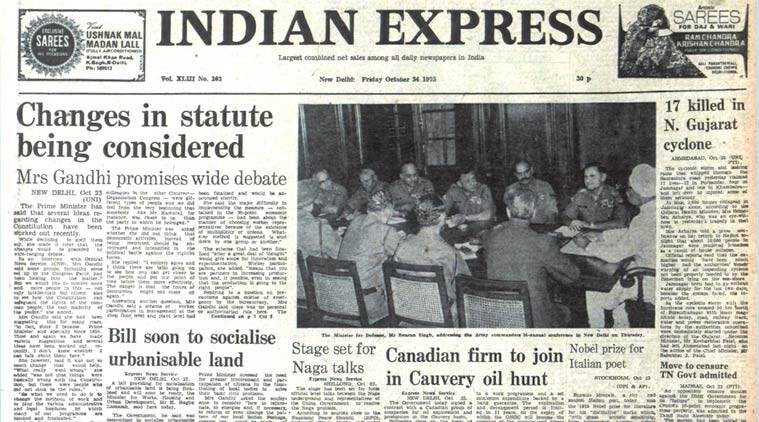 Indira Gandhi, Congress, Rajkot Municipal Corporation, Eugene Montale, Nobel prize, ieeditorial, the indian express